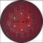 Uhr aus einer Kabeltrommel