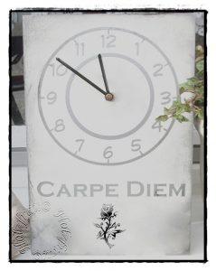 Tischuhr Carpe Diem
