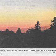 Weilburger Tageblatt Sonnenuntergang