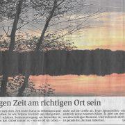 Sonnenuntergang im Weilburger Tageblatt